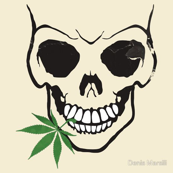 Skull with weed cool skull with pot in mouth t shirt stickers