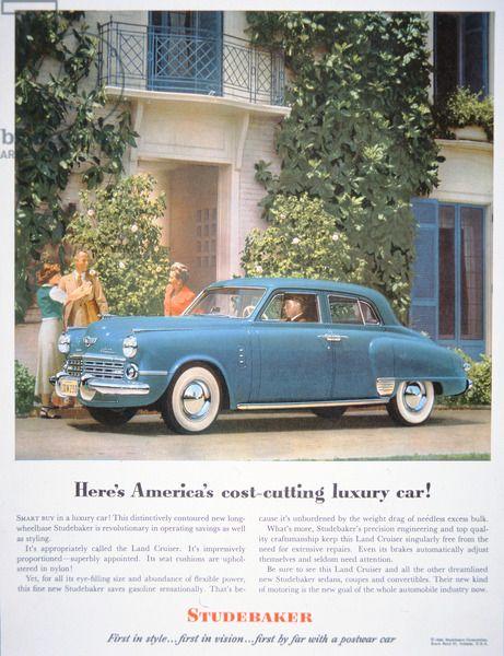 The Studebaker Land Cruiser, 1948 (colour litho)