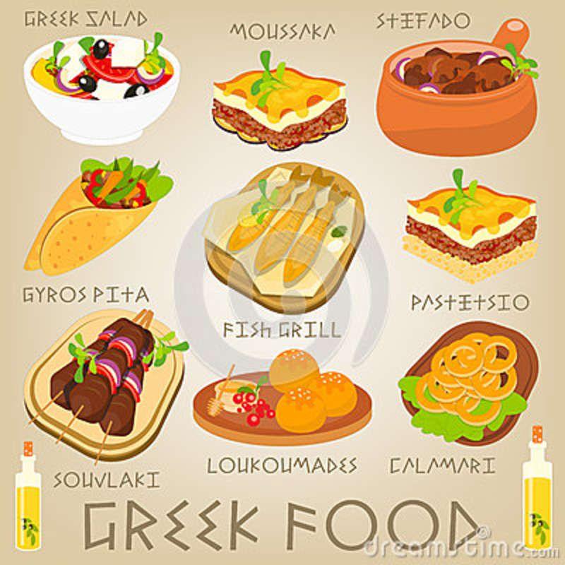 Image Result For Greek Food Clipart