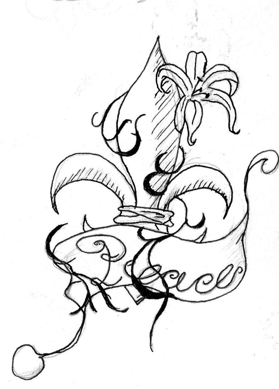 Fleur De Lis Tattoo1 Mermaid Coloring Pages Animal Coloring Pages Dinosaur Coloring Pages
