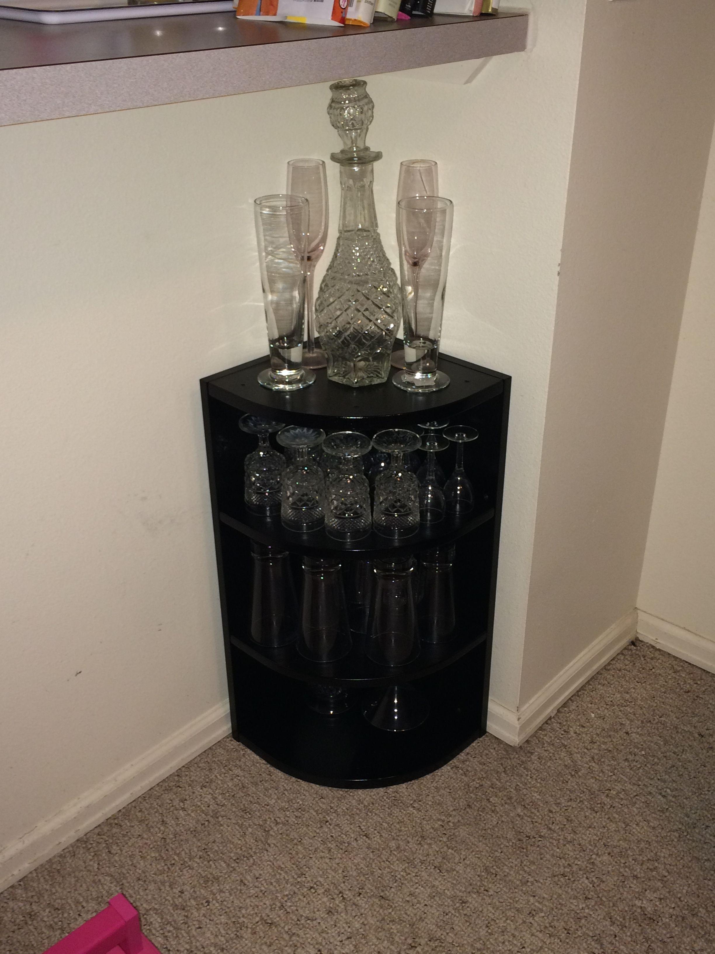 Small Corner Liquor Cabinet