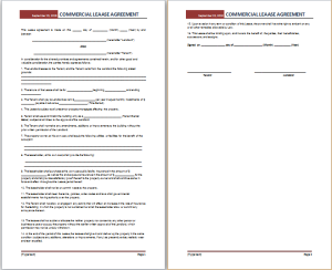Commercial Lease Agreement Template At Http