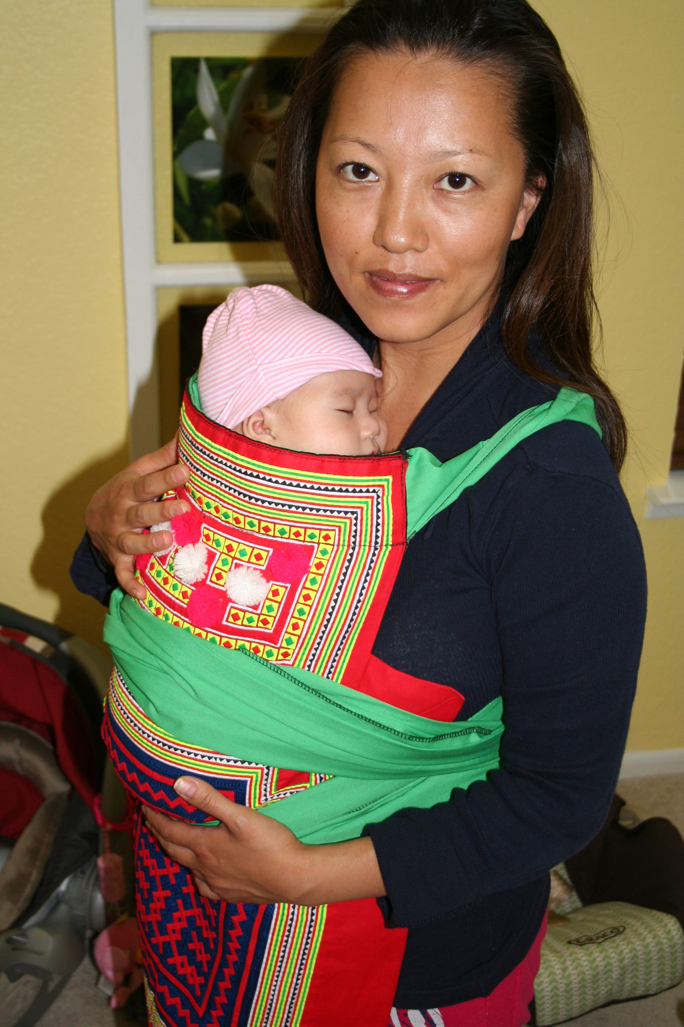 Hmong baby carrier at