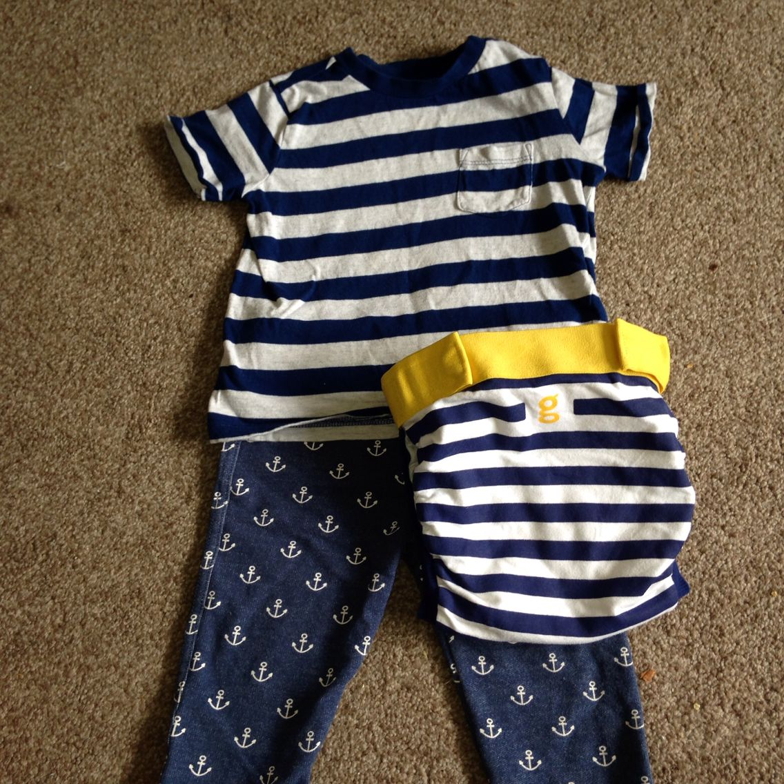 One of Logan's gone sailing outfit