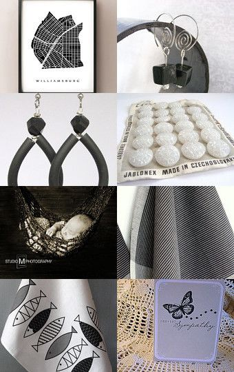 BLACK AND WHITE THURSDAY by Créations Olfée - Annie on Etsy--Pinned with TreasuryPin.com