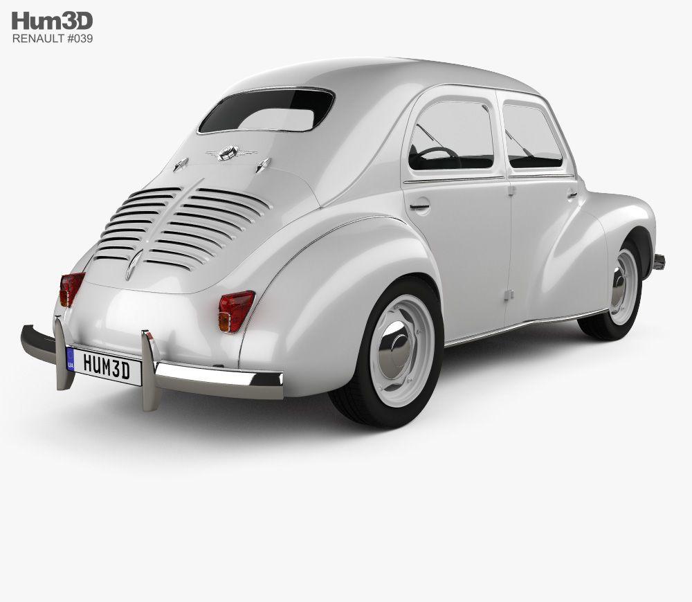 3d Model Of Renault 4cv Sedan 1947 1961 Renault Sedan Renault 4