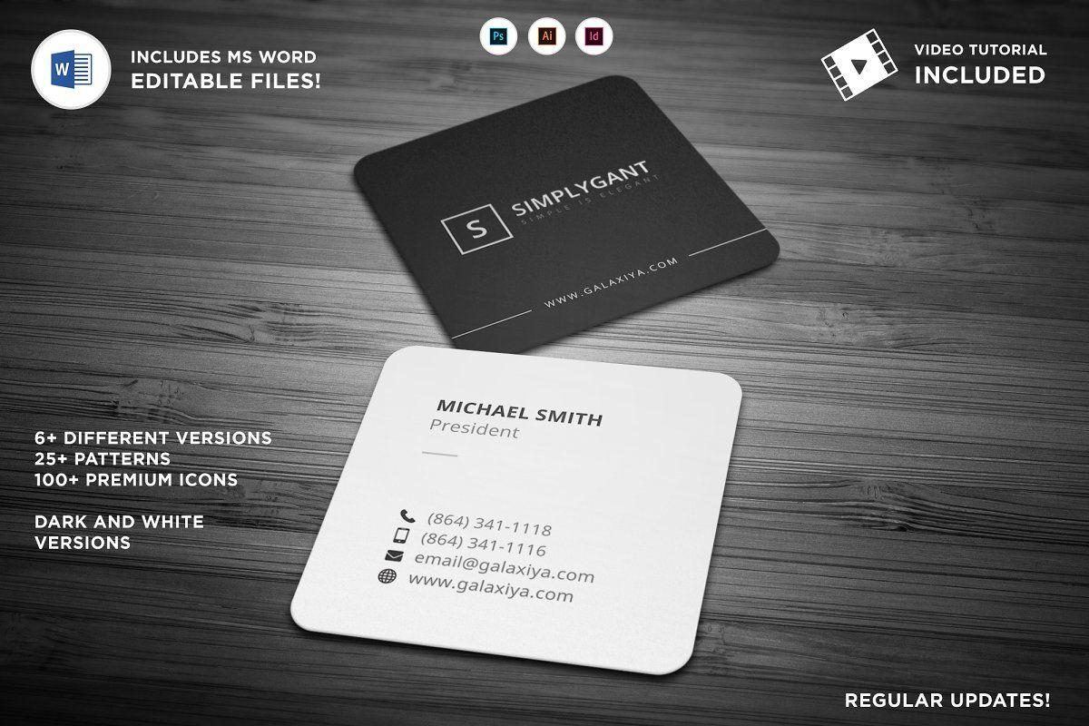 Minimal Square Business Cards Square Business Cards Create Business Cards Business Card Template Design