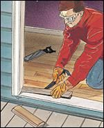How to remove and replace a threshold at the home depot - Exterior door threshold home depot ...
