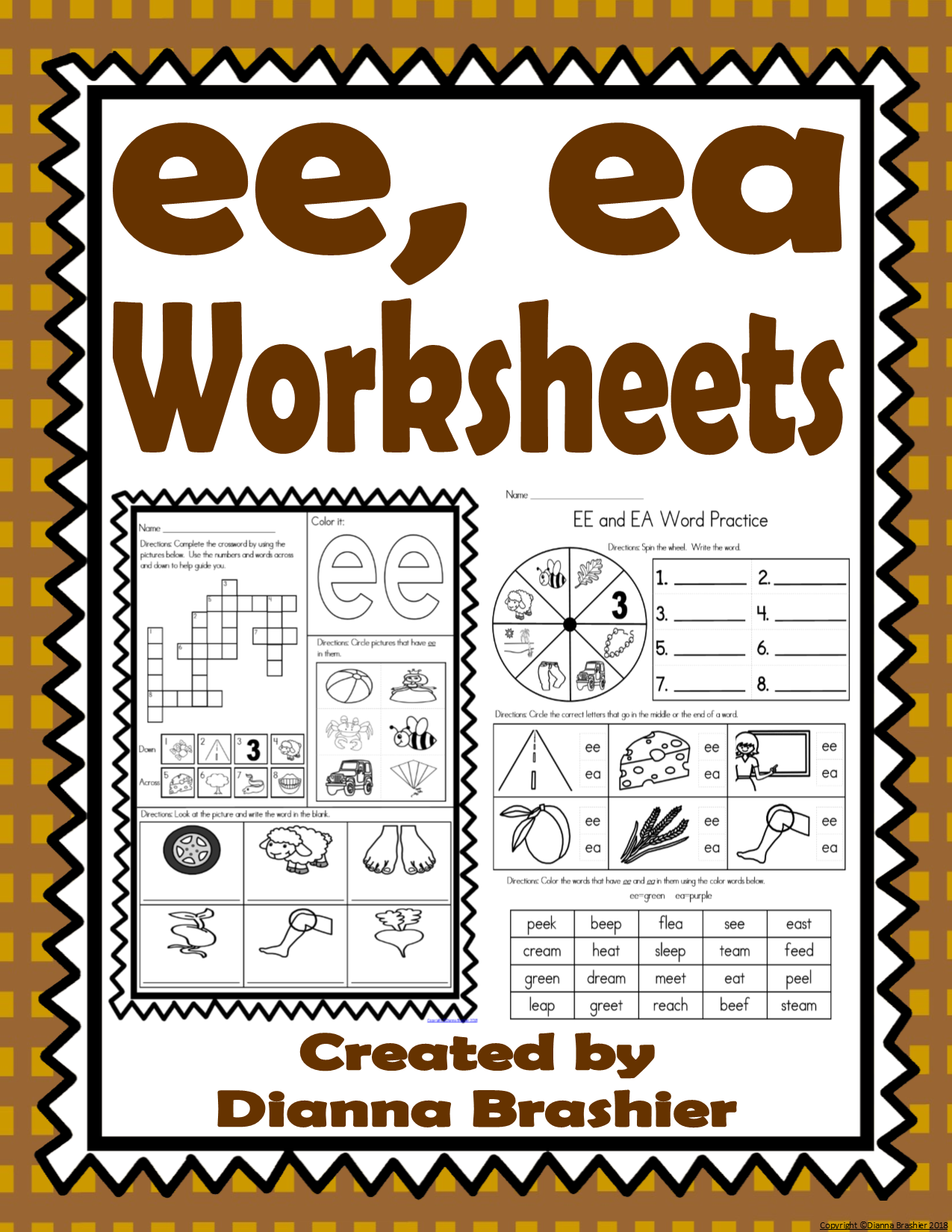 Ee Ea Worksheets With Images