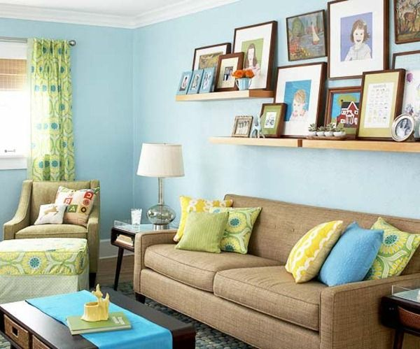 Living Room Colors Blue And Brown Color Scheme