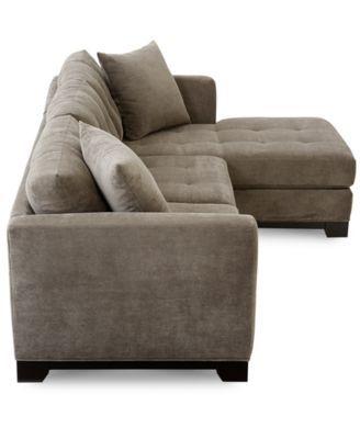 Elliot Fabric Microfiber 2 Pc. Chaise Sectional Sofa   Furniture   Macyu0027s