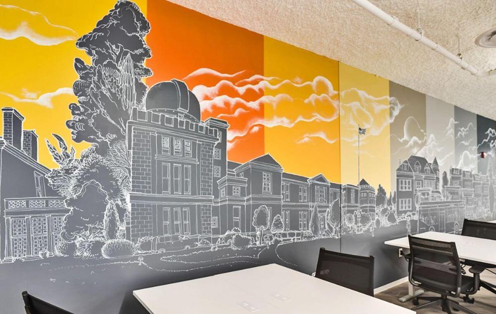 Creative Office Wall Design Ideas Increase The Productivity Office Mural Graffiti Wall Wall Murals