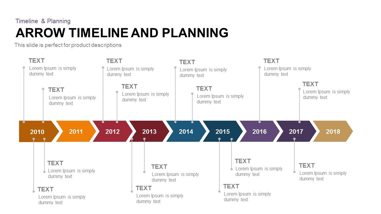 Arrow Timeline And Planning Timeline Planning Powerpoint And - Timeline template keynote