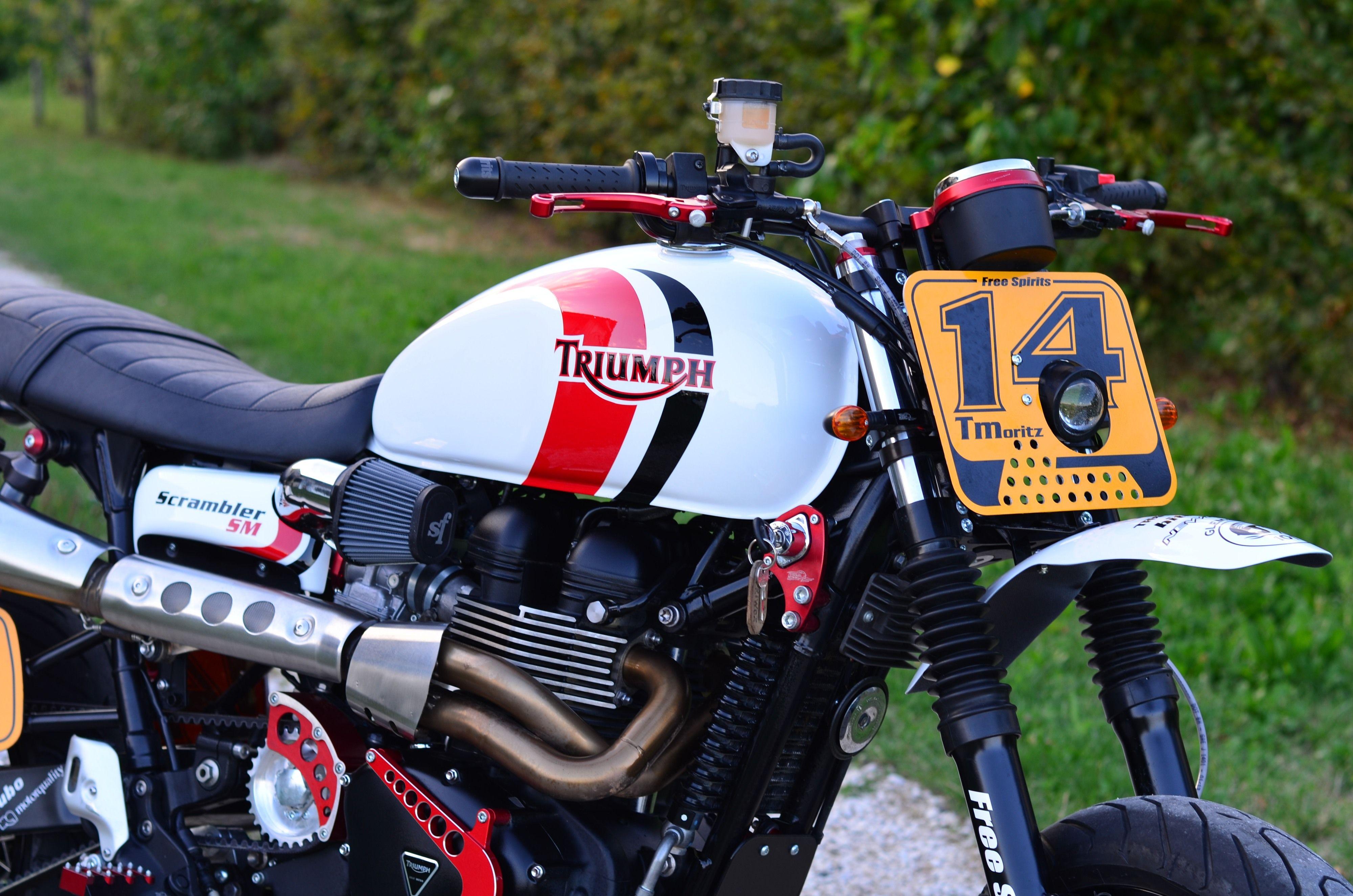 Triumph Scrambler Supermotard born from a Bonneville tuned