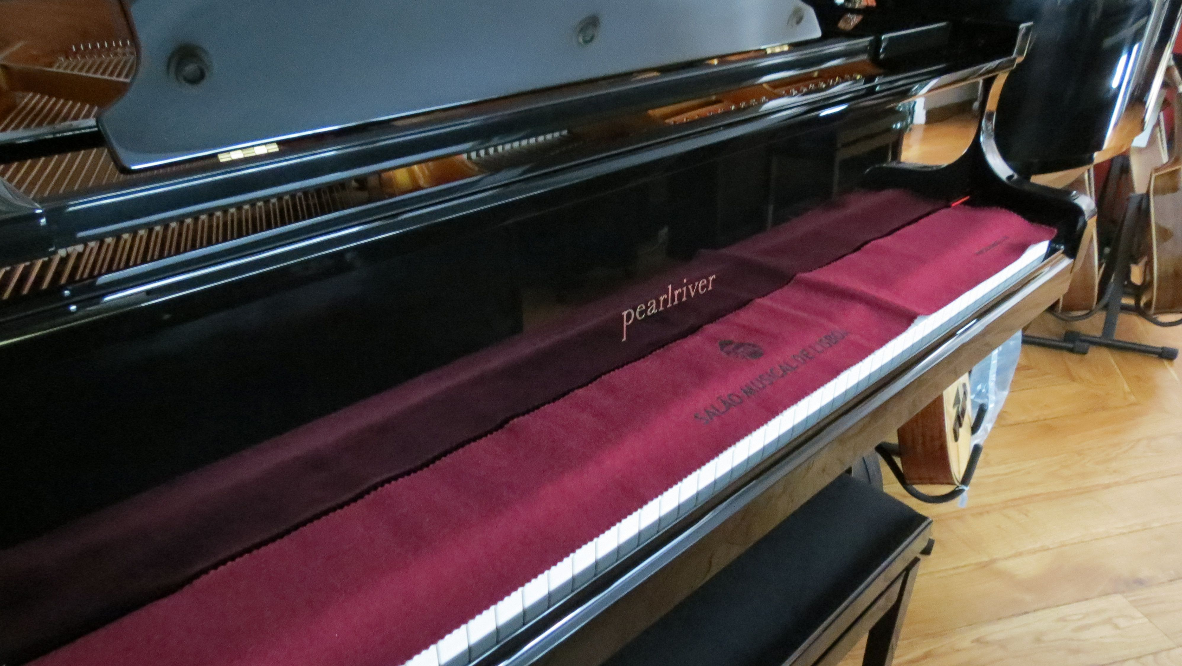 Bom dia! Quer comprar um piano acústico? Venha ao Salão Musical de Lisboa experimentar os pianos Pearl River. No nosso site www.salaomusical.com pode ver modelos e preços.