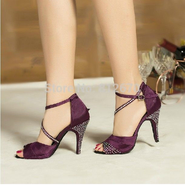 ce3ed36ca Clear Latin Dance Shoes women satin Rhinestone ballroom shoes modern custom  high-heel latin dance shoes Price: 29.80 & FREE Shipping #happy
