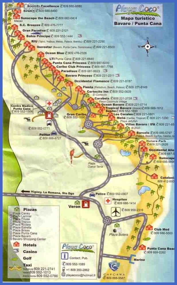 awesome Dominican Republic Map Tourist Attractions