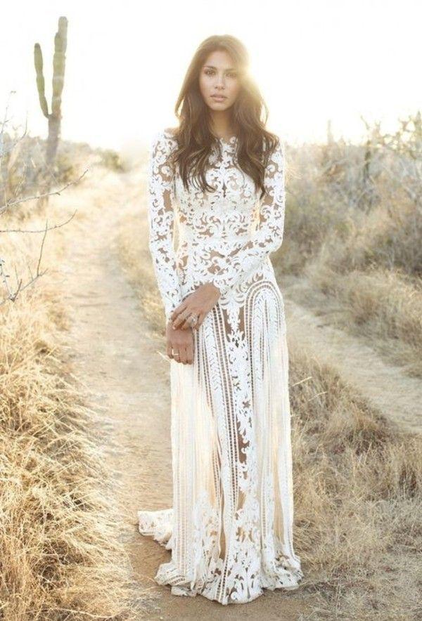 Dress: white vintage boho boho floral white maxi maxi summer white ...