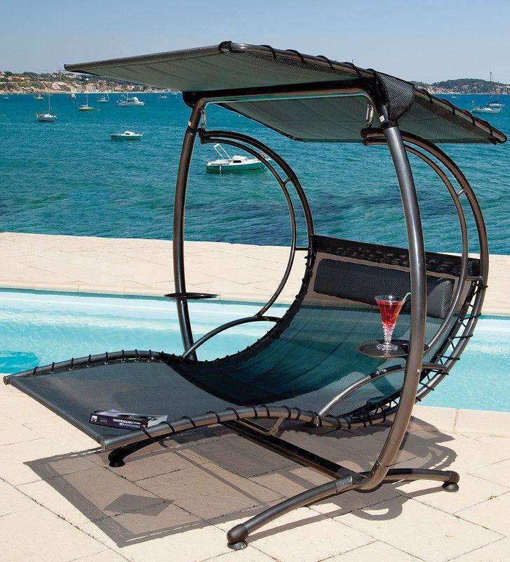 balancelle lit suspendu 2 places neo design design en. Black Bedroom Furniture Sets. Home Design Ideas
