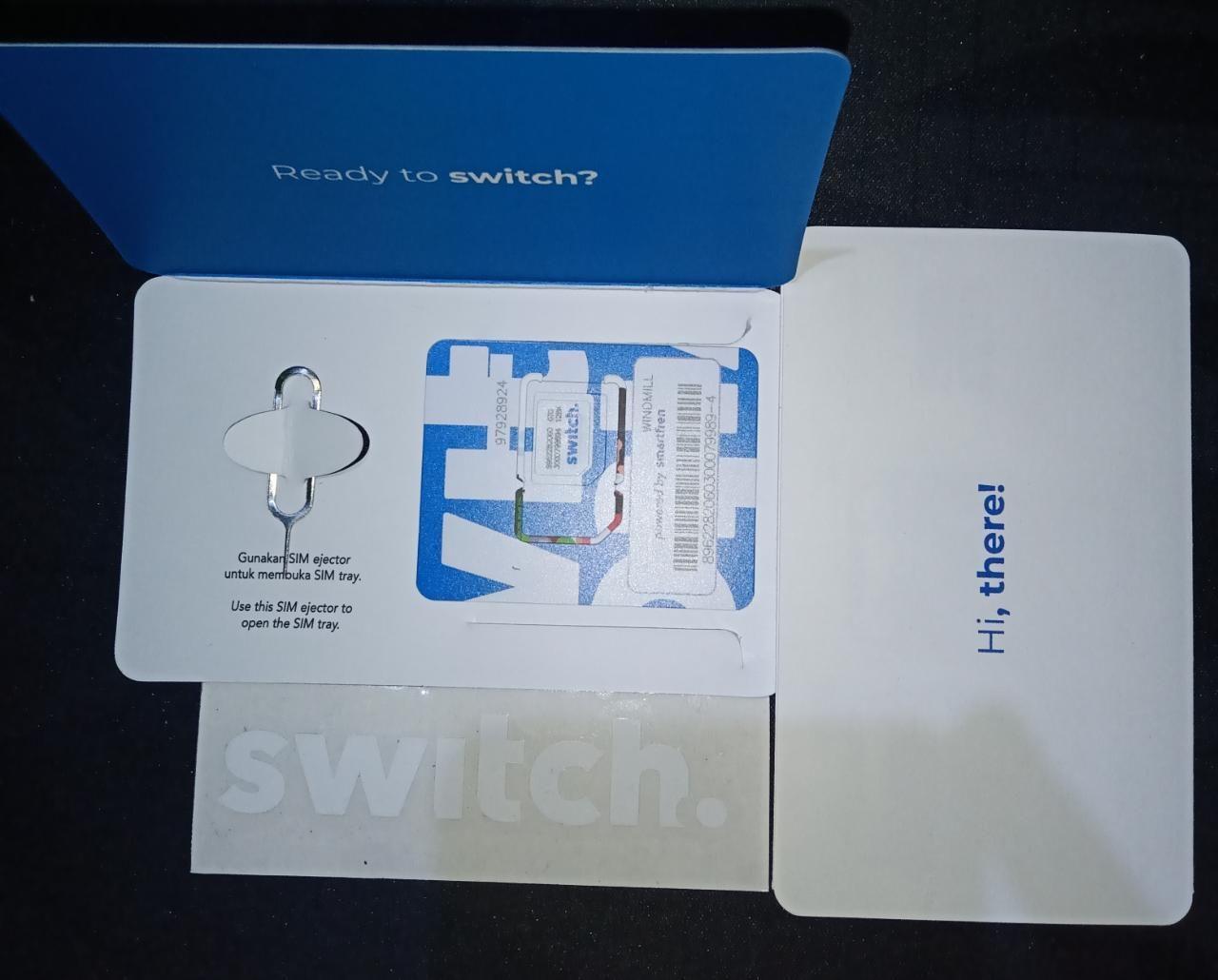 Berikut Cara Melakukan Aktivasi Provider Digital Sim Card Switch Beta Milik Smartfren Secara Detail Dengan Daftar Paket Yang Bisa Di Pengikut Aplikasi Revolusi