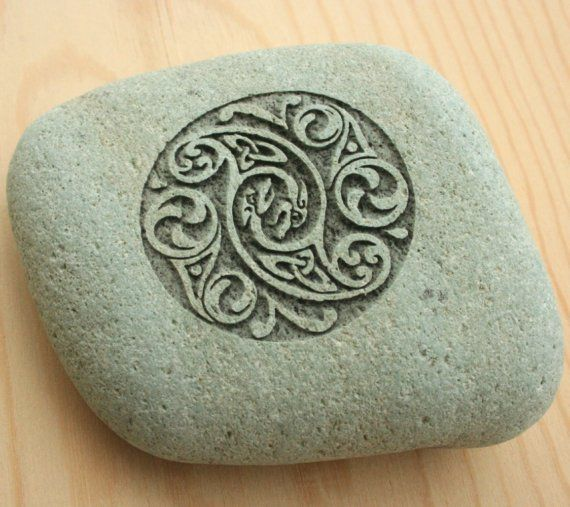 Celtic Wedding Stone Home Decor Engraved Stone