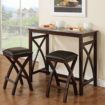 3 piece breakfast pub set at big lots - Kitchen Bar Table Set