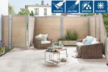 sichtschutzzaun design wpc sand garten pinterest garten zaun und terrasse. Black Bedroom Furniture Sets. Home Design Ideas