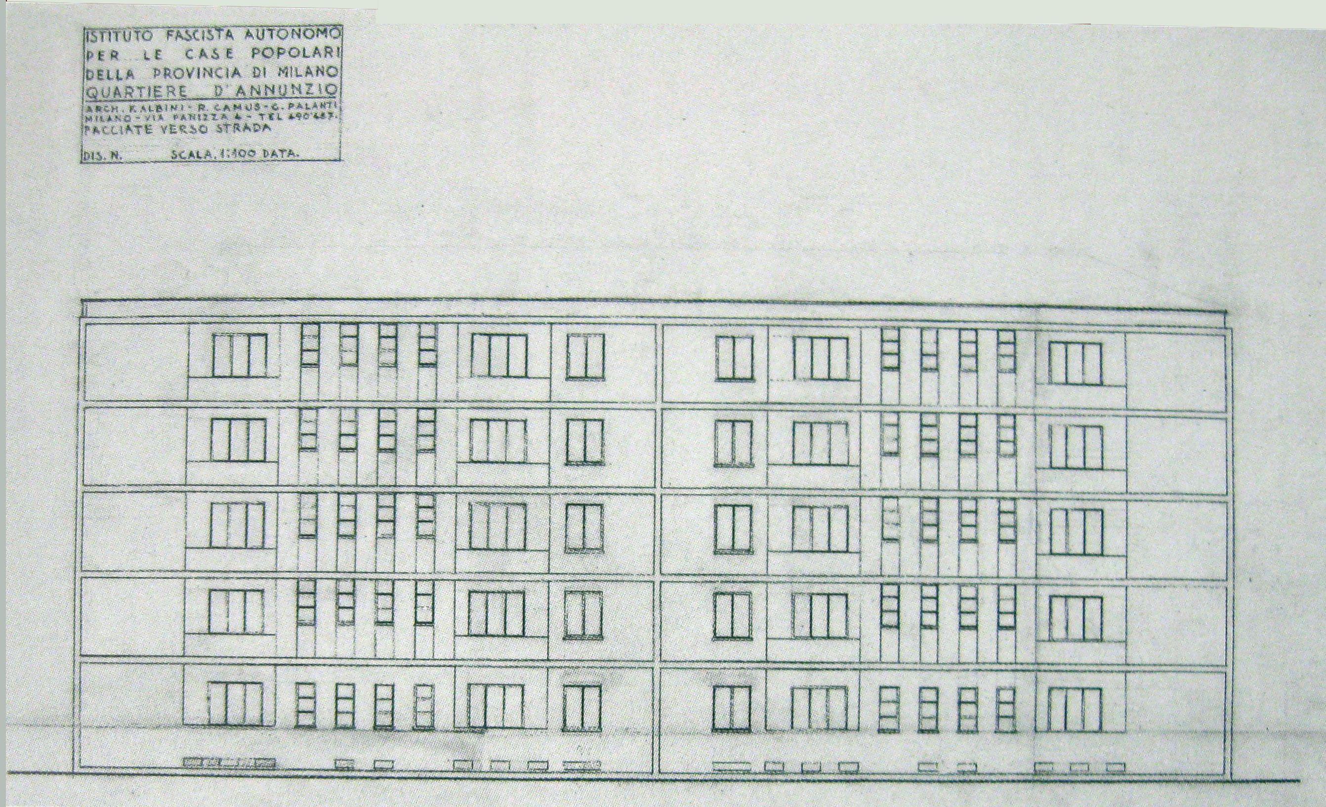 Quartiere Gabriele d Annunzio ora San Siro Albini Camus e Palanti 1938 Architecture Pinterest