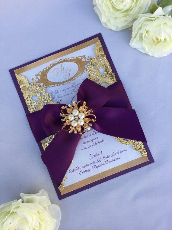 Blush Pink And Gold Wedding Invitation Box