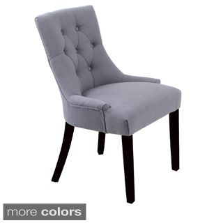Bellcrest Buttontufted Upholstered Dining Chairs Set Of 2 Impressive Cushioned Dining Room Chairs Design Decoration