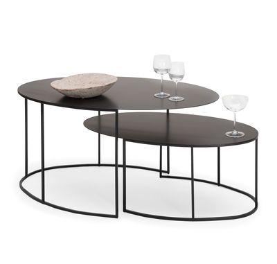 Zeus Slim Irony Coffee Table Black Made In Design Uk Table Basse Meuble Table De Salon