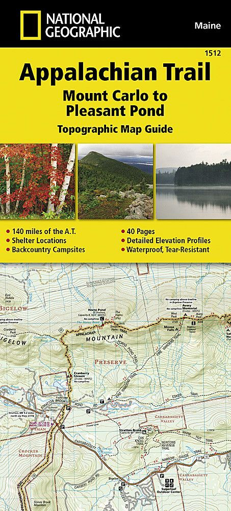 Appalachian Trail Topographic Map Guide Mount Carlo To Pleasant - Appalachian trail topo map