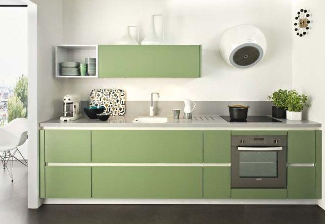 Idée relooking cuisine – Tendre vert pour cette cuisine moderne et ...