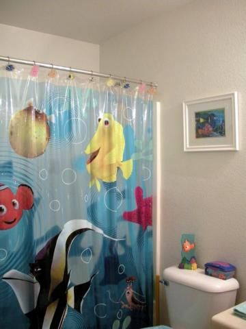 Finding Nemo Shower Curtain Bathroom Phoenix Arizona Home House Real Estate Photo