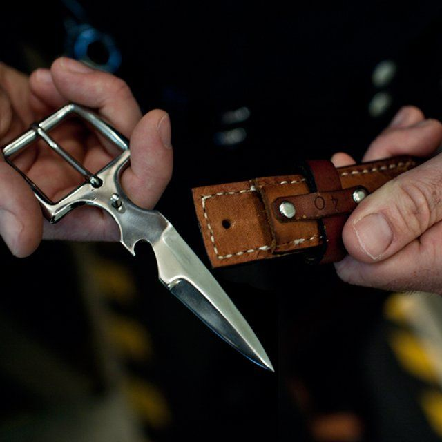 Attractive Belt Knife Buckle, Awesome!