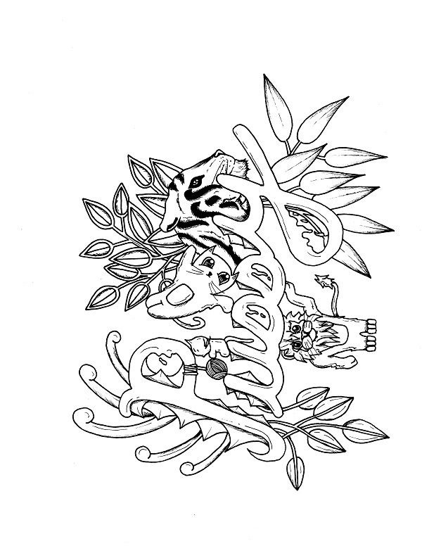 pussyfoot coloring pages - photo#24