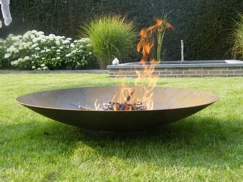 120cm Corten Steel Large Fire Pit And Water Bowl 227 99 Garden Fire Pit Outdoor Fire Fire Pit