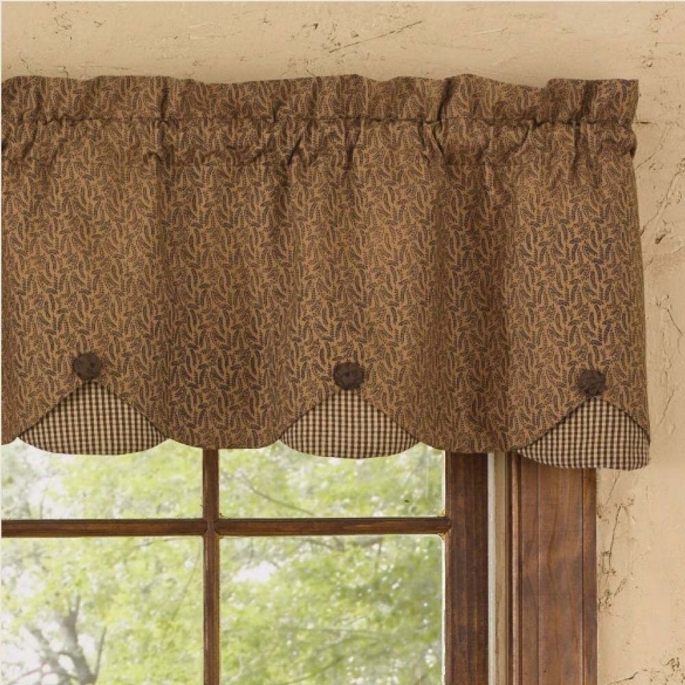 Country Straight Valance Curtains Burlap Curtains Kitchen