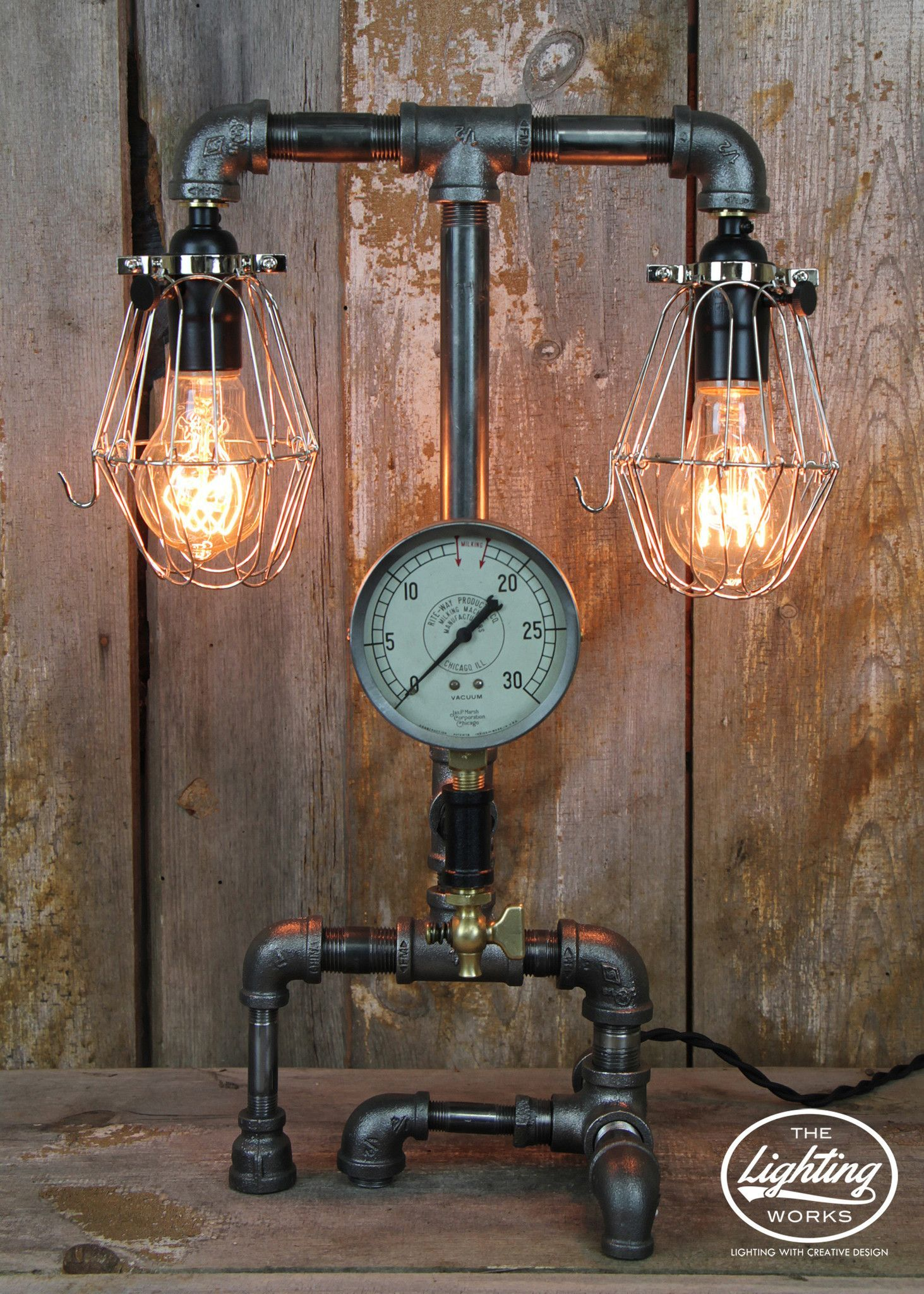 Creative industrial lamps - Steampunk Industrial Lamp With Dual Lights 50