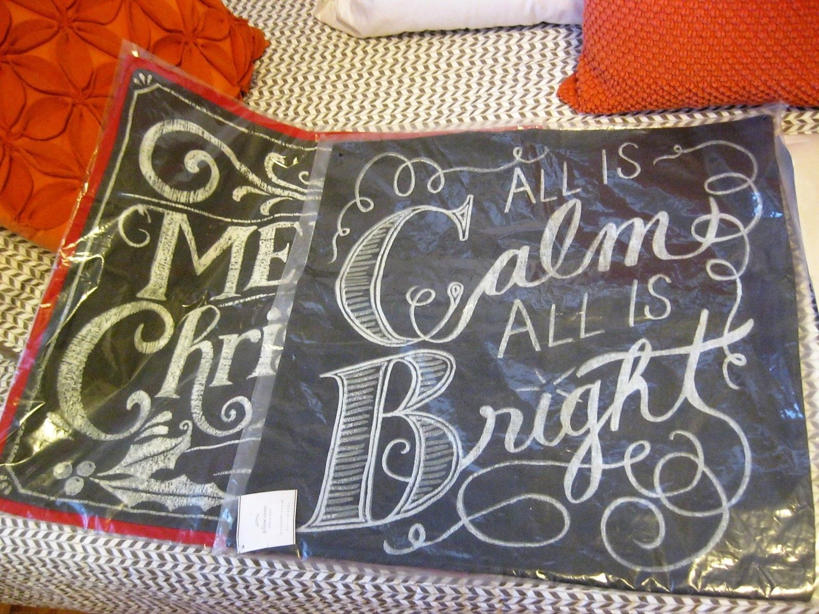 Pottery Barn All Is Calm Bright Amp Merry Christmas Pillow