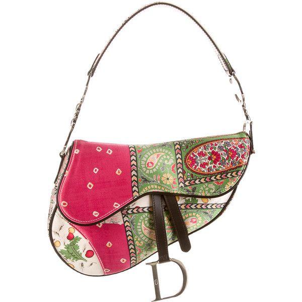 a6dbd9b9bb27 Pre-owned Christian Dior Saddle Bag (€225) ❤ liked on Polyvore ...