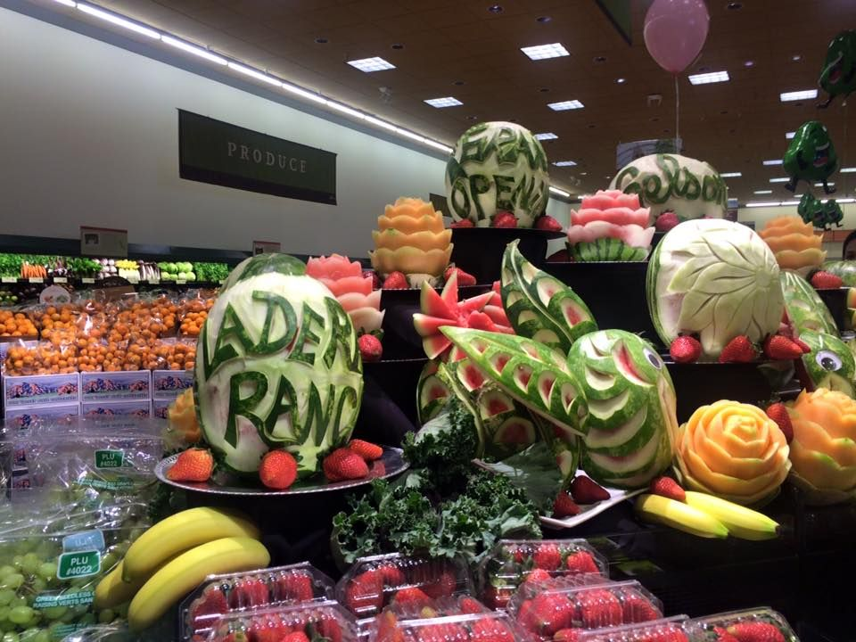 Food Art at the New Gelson's Super Market at Mercantile