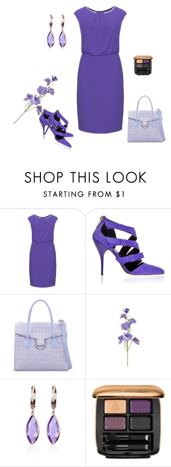 """""""MESMA COR!"""" by lucinhapitchoska ❤ liked on Polyvore featuring Weise, Oscar de la Renta, Charles Jourdan, Belk & Co. and Guerlain"""