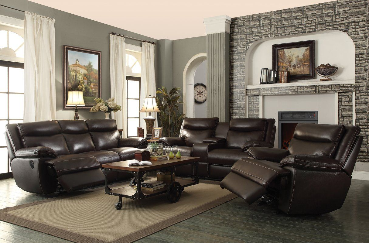 Hughes Reclining Configurable Living Room Set In 2020 Cheap Living Room Sets Living Room Sets Leather Reclining Sofa