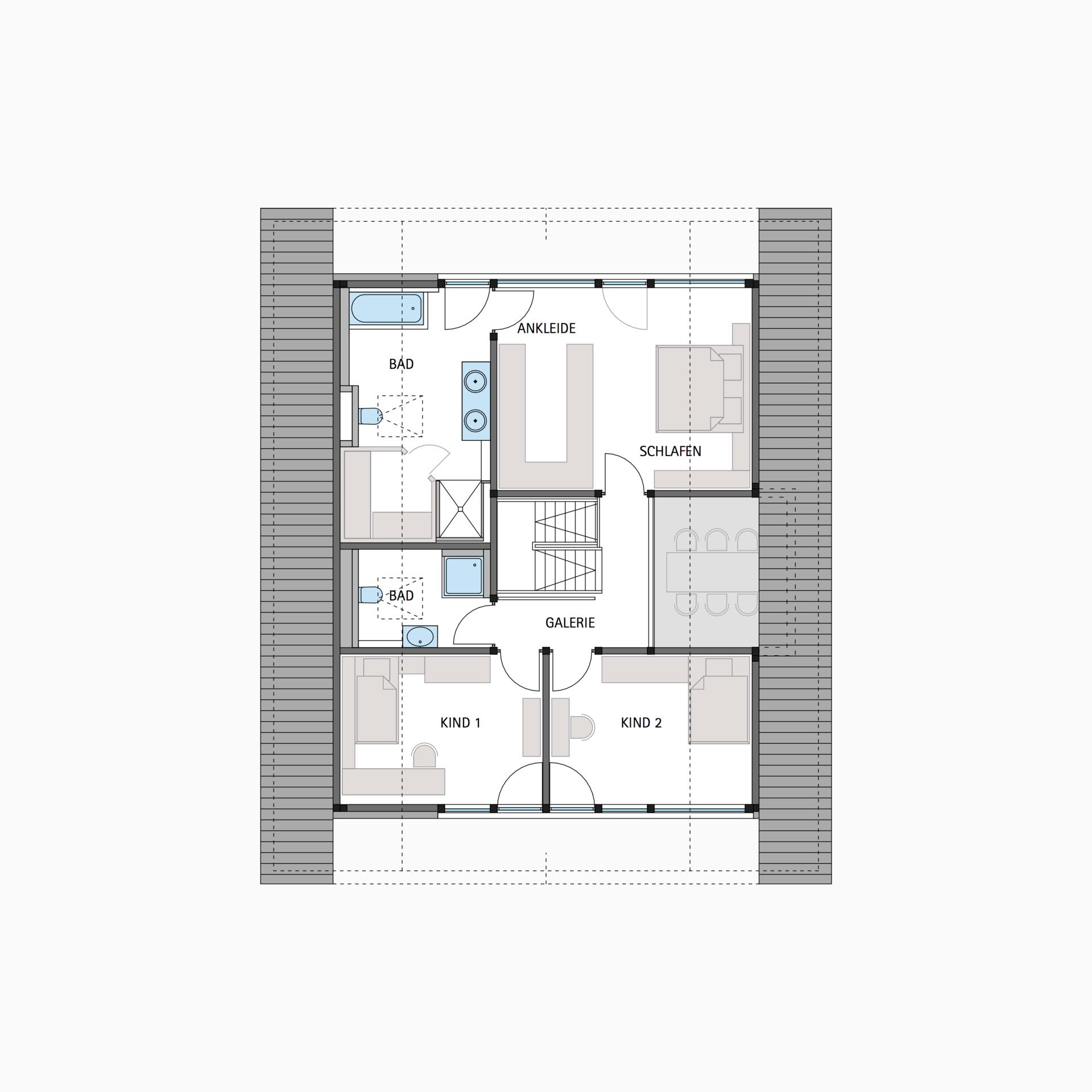 HUF Fachwerkhaus Grundriss Dachgeschoss MODUM 810 Haus