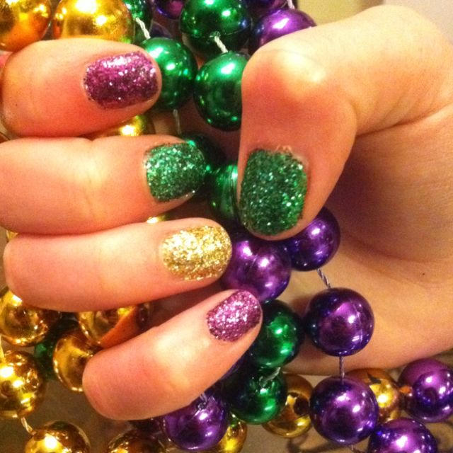 Mardi Gras Nails Spring Nails Pinterest Mardi Gras Makeup And