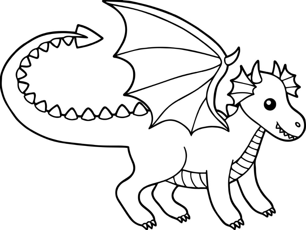 Baby Dragon Coloring Pages | K5 Worksheets in 2020 ...