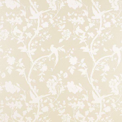 Oriental Garden Linen Wallpaper