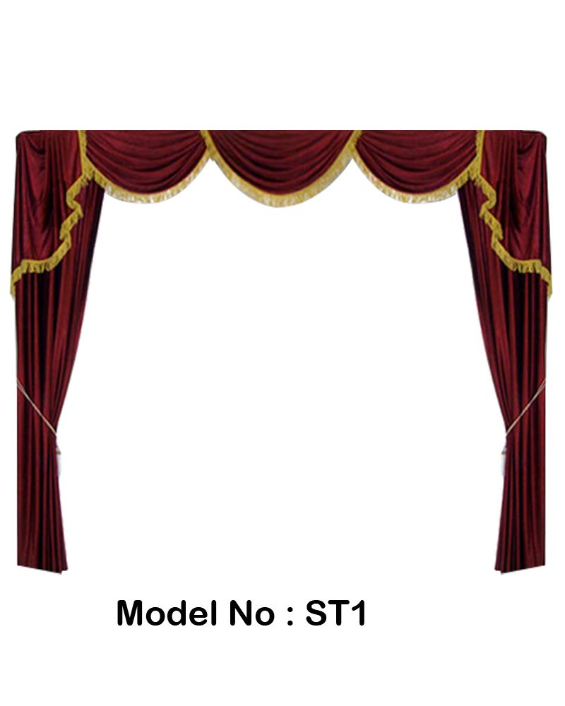 Decorative Curtains For School, Church & Home Theater Stages, Living ...