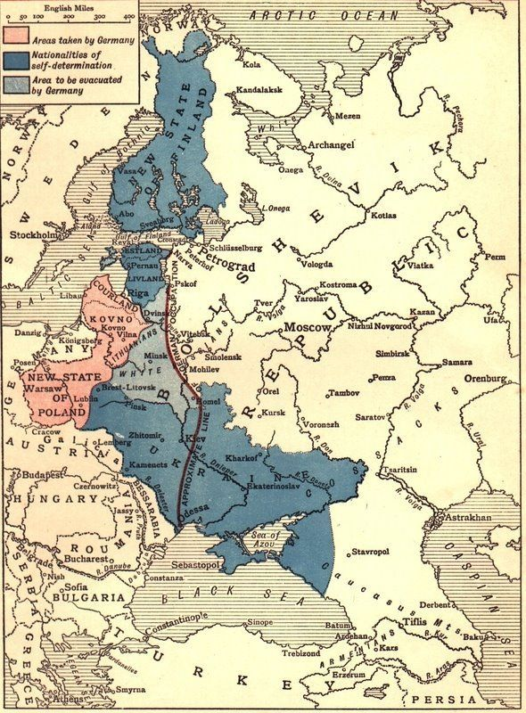 Treaty Of Brest Litovsk Treaty Of BrestLitovsk March - 1917 1918 us in europe battles map